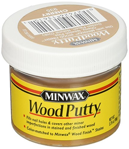 - Minwax 13615000 Wood Putty, 3.75 Ounce, Cherry