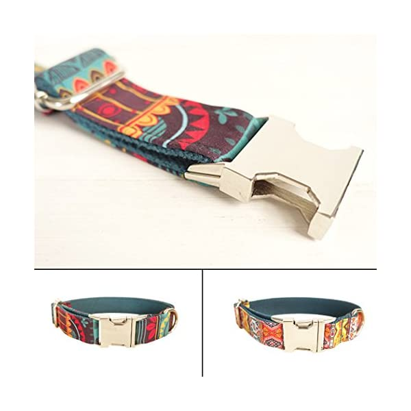 Legendog Print Dog Collar Fashionable Alloy Buckle Dog Collar Adjustable Pet Collar for Dog Cat Size M Click on image for further info. 2