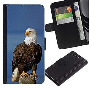 WonderWall ( No Para Xperia Z1 ) Fondo De Pantalla Imagen Diseño Cuero Voltear Ranura Tarjeta Funda Carcasa Cover Skin Case Tapa Para Sony Xperia Z1 Compact D5503 - ave nacional águila americana símbolo