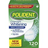 #9: Polident Overnight Whitening Antibacterial Denture Cleanser Effervescent Tablets, 120 count
