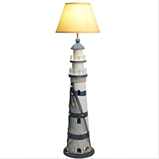 Floor Lamps Mediterranean Simple Creative Children Bedroom Floor Lamp Room Nordic Sea Lighthouse Vertical Desk Lamp Floor Standing Lamp
