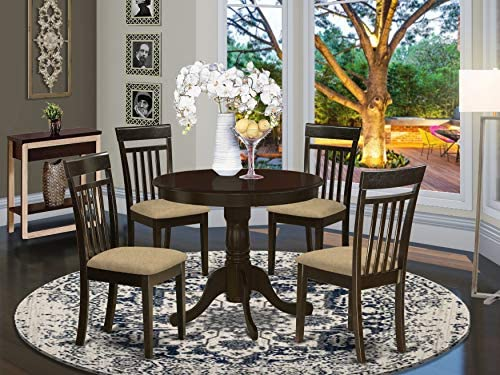 ANCA5-CAP-C 5 Pc Kitchen Table-Kitchen Dining nook plus 4 Dining Chairs