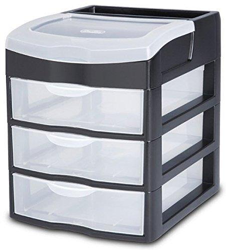 Sterilite 20639004 3 Drawer Clearview Desktop Unit ()