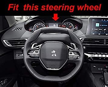 Leder passend f/ür Peugeot 3008 4008 5008 2016 Detazhi Lenkradbezug aus Mikrofaser 2019 508 208 2019 e-208 schwarz//lila Schwarz Lila