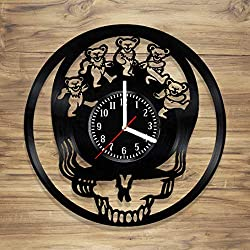 Grateful Dead Vinyl Wall Clock Legend Rock Music Band Rock Perfect Art Decorate Home Style Unique Gift idea for Him Her (12 inches)