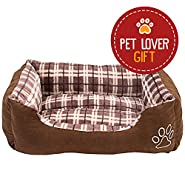 Rectangle Pet Bed, Checkered