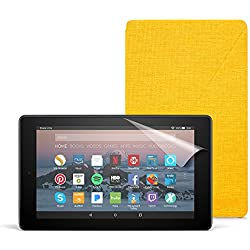 All-New Fire 7 Essentials Bundle with Fire 7 Tablet (8 GB, Black), Amazon Cover (Canary Yellow) and Screen Protector (Clear)