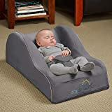: hiccapop Day Dreamer Sleeper Baby Lounger Seat for Infants - Travel Bed - Bassinet Alternative, Charcoal Gray