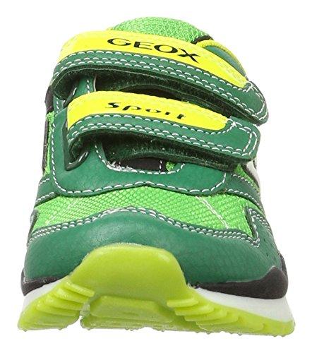 Geox J PAVEL A - zapatilla deportiva de material sintético niño Verde (Green/limec0790)