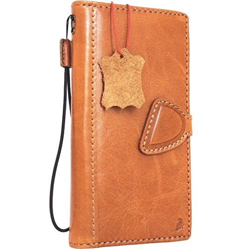 Genuine vintage natural Leather Case for Samsung Galaxy S8 plus Book Wallet Luxury magnet Cover slim S Hand made Retro thin Id cards slots s 8 Art light brown daviscase