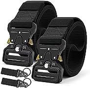 Doopai Tactical Mens Belt camo Nylon Military Metal Buckle Adjustable Heavy leather belts for men