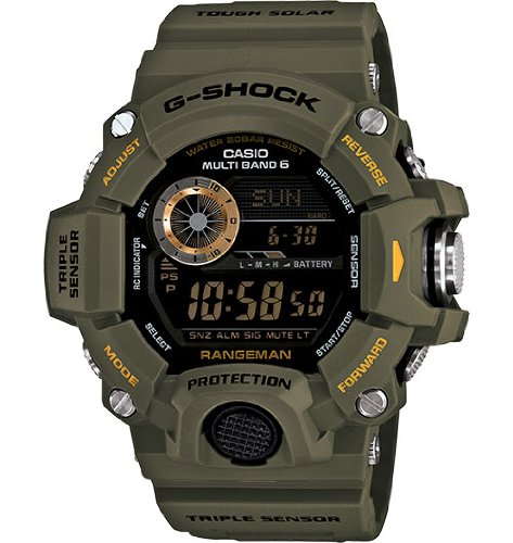 Casio G-Shock Rangeman Master Of G Series Stylish Watch - Green/One Size Diver Stainless Steel Knife