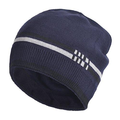 Janey&Rubbins Sports Winter Soft Knit Beanie Hat Warm Fleece Lined Skull Ski Cuff Stocking Cap - Sun Ski Sports N