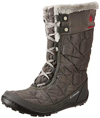 Columbia Women's Minx Mid II Omni-Heat Winter Boot, Shale/Bright Red, 9 M US