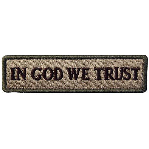 EmbTao In GOD We Trust Embroidered Tactical Morale Fastener Hook&Loop Patch - Multitan