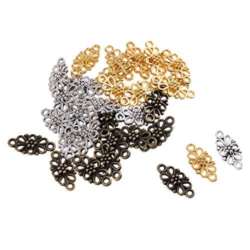 40pcs Alloy Rose Shape DIY Pendant Charms Bracelet Pendant 20x10mm Crafts