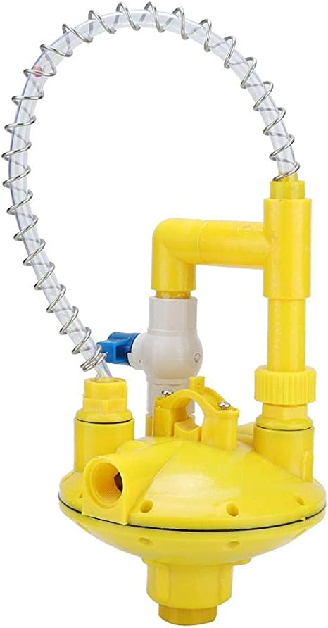 Round Tube Mumusuki Water Pressure Regulator Regulating Reducing Valve with Double Rubber Pad for Drinker Farm Accessories Professional Chicken House Drinking Poultry Water Equipment