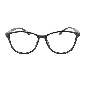 ae857e2243 EyeBuyExpress Prescription Mens Womens Black Cat Eye Style Retro Reading  Glasses Lightweight Anti Glare Quality +