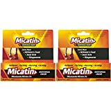 Micatin Antifungal Cream, 0.5 oz. (2 Pack), Antifungal Cream for Athlete's Foot, Jock Itch, Ringworm Infections, Helps Relieve Itching