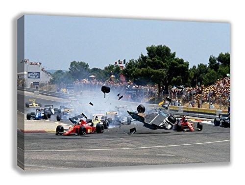FIA F1 FORMULA 1 ONE CAR CRASH CANVAS WALL ART (44