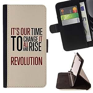 Momo Phone Case / Flip Funda de Cuero Case Cover - Tiempo Revolución Libertad Rojo Mensaje - Sony Xperia M2
