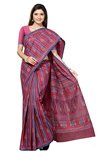 Jaanvi-Fashion-Designer-Red-Printed-Cotton-Saree