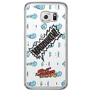 Loud Universe Samsung Galaxy S6 Edge Street Fighter Haduken! Printed Transparent Edge Case - White/Blue