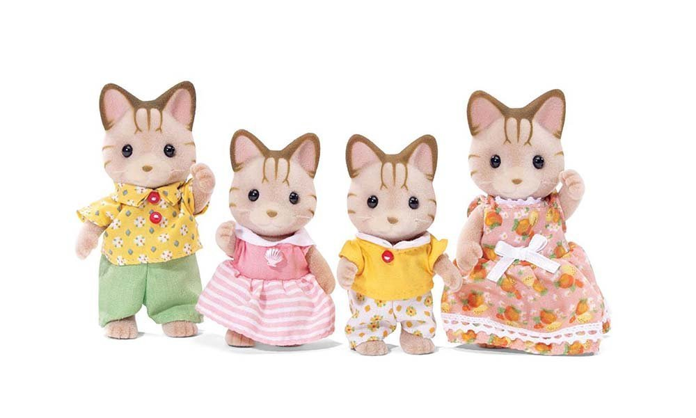 Calico Critters Sandy Cat Family International Playthings CC1406