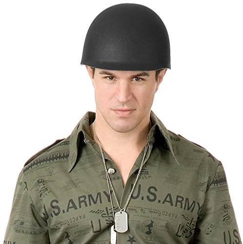 Deluxe Adult Costume Accessory Black Desert Storm Soldier Army G.I. Helmet -