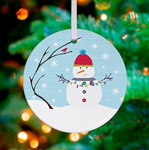 Oopsy Daisy Keepsake Ornament, Winter Scene Snowman, 3