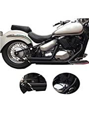 BAIONE Motorcycle Full Exhaust Pipe with Muffler Silencers Exhaust Drag Pipes For Suzuki Boulevard C50 2006-2021 (Black)