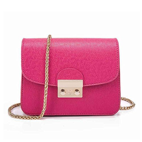 Color FUBULE Bolsa Rose Bolso Cuadrada Red Bolso Purple de de Mujer Retro Bolso Hombro Uv14vBq