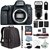CANON EOS 6D MARK II DSLR Camera Kit – Body Only + BG-E21 Battery Grip + Canon CarePak Protection + Professional Accessory Bundle - Including EVERYTHING You Need To Go Pro