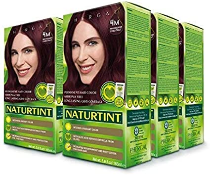 Naturtint Permanent Hair Color - 4M Mahogany Chestnut, 5.28 fl oz (6-pack) by Naturtint