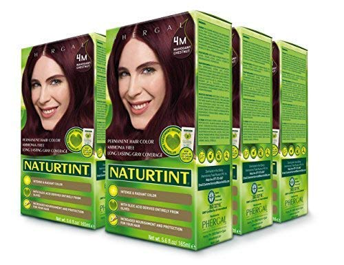 (Naturtint Permanent Hair Color - 4M Mahogany Chestnut, 5.6 Fluid Ounce (Pack of 6))