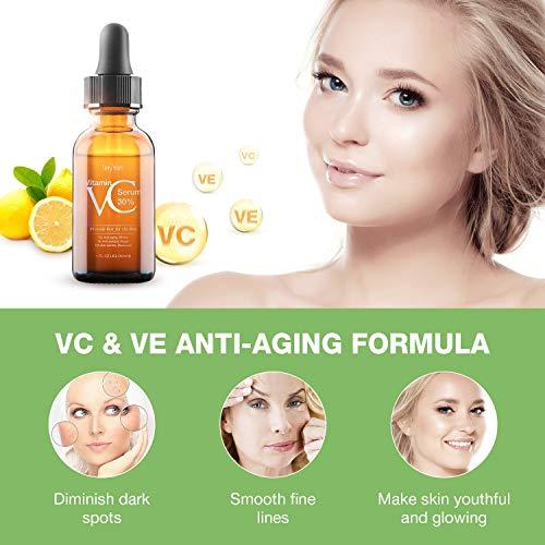 5142vpF%2BQCL - 30% Vitamin C Serum for Face,Hyaluronic Acid & Vitamin E - Natural & Organic Anti Wrinkle Whitening Vitamin C Serum for All Skin - Anti Aging Serum-1 fl oz.