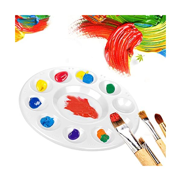 CENTSTAR-15-Pcs-Round-Paint-Tray-Palettes-Plastic-for-Acrylic-Oil-Watercolor-Craft-DIY-Art-Painting-Palettes-White-15-PCS