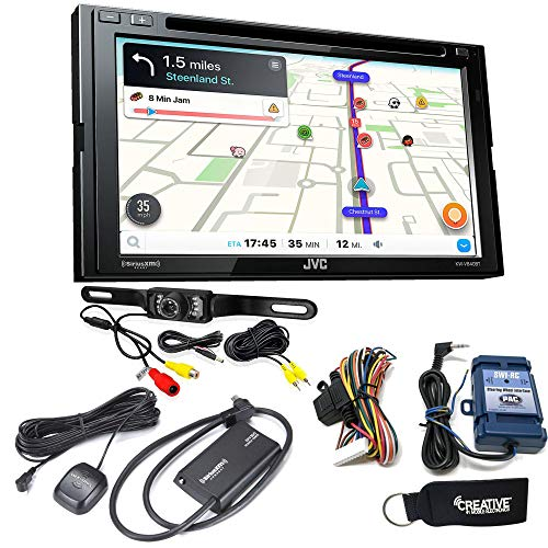 JVC KW-V840BT Compatible with Android Auto/CarPlay CD/DVD with Sirius XM, Back up Camera, Steering ()
