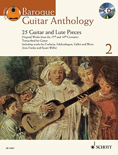 Read Online Baroque Guitar Anthology Volume 2 - 25 Guitar And Lute Pieces Book/CD English-French-German pdf