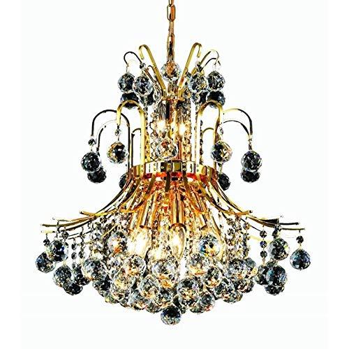 Elegant Lighting Value Toureg Collection Pendant D:19in H:23in Lt:10 Gold Finish (Spectra Swarovski Crystals) Gold