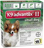 K9 ADVANTIX II Dog Flea & Tick 0-10 lbs Green 4 Month