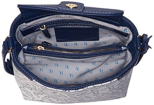 Trussardi Jeans - Bolso Mujer, Azul (Blu), 20 cm
