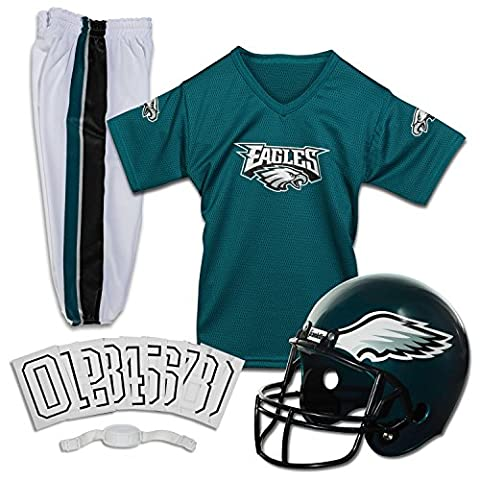 Franklin Sports NFL Philadelphia Eagles Deluxe Youth Uniform Set, Medium (Nfl Helmets Kids)
