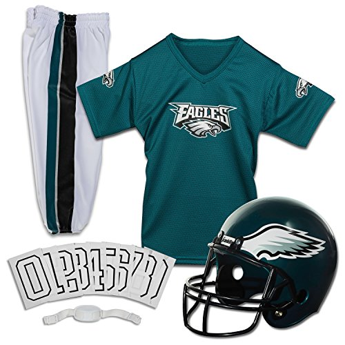 Franklin Sports NFL Philadelphia Eagles Deluxe Youth Uniform Set, (Girl Football Costumes Halloween)