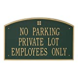 "Custom Extra Large Cape Charles Commercial Wall Plaque 17""W x 28""H (3 Lines)"