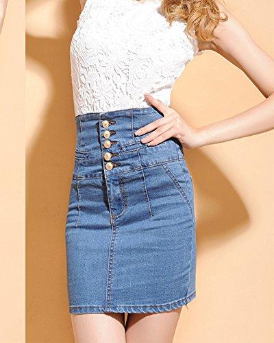 Di Di Denim Jeans Minigonna Minigonna Alta Di Jeans Qualit xYYqTpw