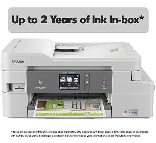 Brother INKvestmentTank Inkjet Printer, MFC-J995DW XL, Extended Print Color All-in-One Printer Mobile Printing Duplex Printing, up to 2-Years Ink in-Box