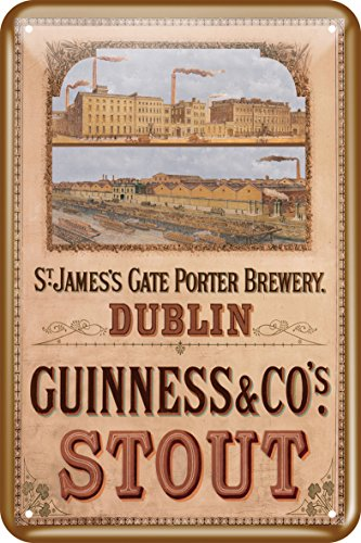 Guinness Metal Sign With St James' Gate Design