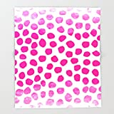 Society6 Ombre dots cute hot pink trendy must have gifts for college dorm room decor affordable painting Throw Blankets 88'' x 104'' Blanket