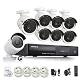 [Full HD 1920x1080P] Annke 8CH 1080P PoE NVR w/ 8 Indoor/ Outdoor Weatherproof 100ft Night Vision HD Security Camera System (Scan QR Code Quick Remote Access, 2.0 Mega-pixels, True PoE Technology, Continuous Recording & Smart Recording, e-Cloud)